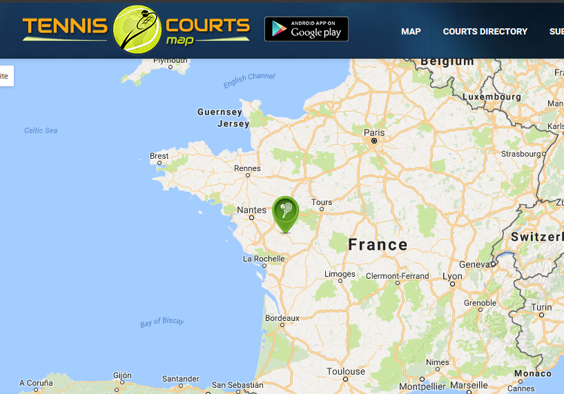 bressuire map - Αντισφαίριση - Το tennis στην Ελλάδα