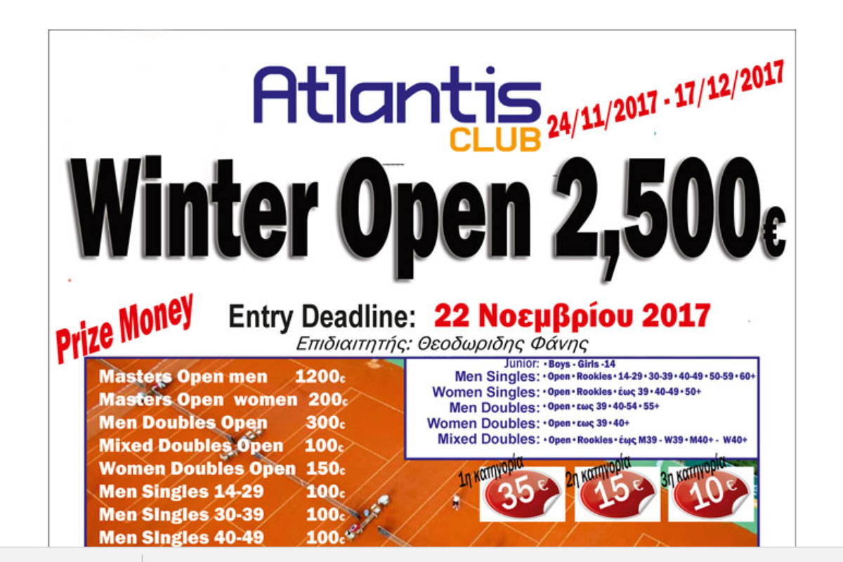 ATLANTIS WINTER OPEN 2017