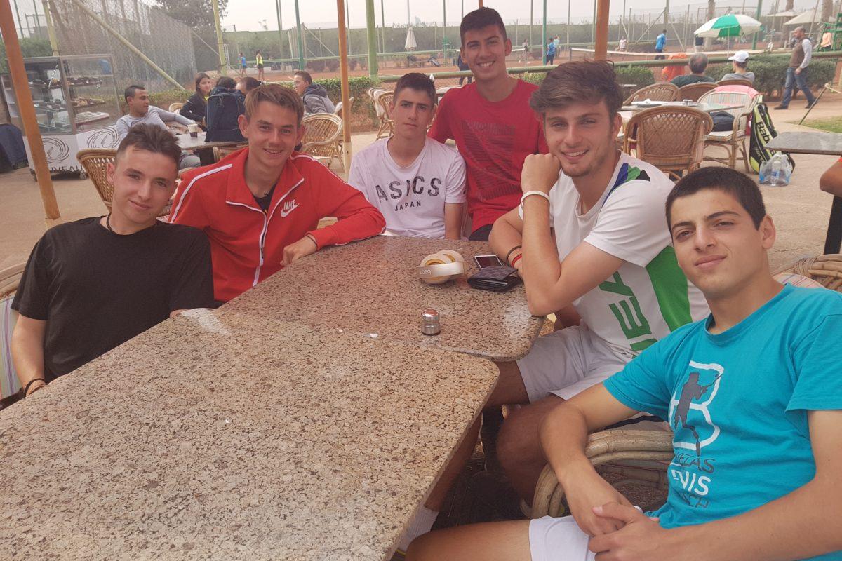 Ο Ευάγγελος Φραγκίστας στην 8αδα του Smash EGY 2 ITF Junior Championship