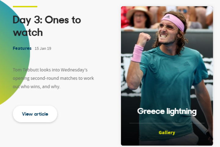 Australian Open – Photo gallery για Στέφανο και Μαρία