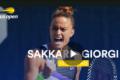 Εντυπωσιακή νίκη της Σάκκαρη στον 1ο γύρο του US Open