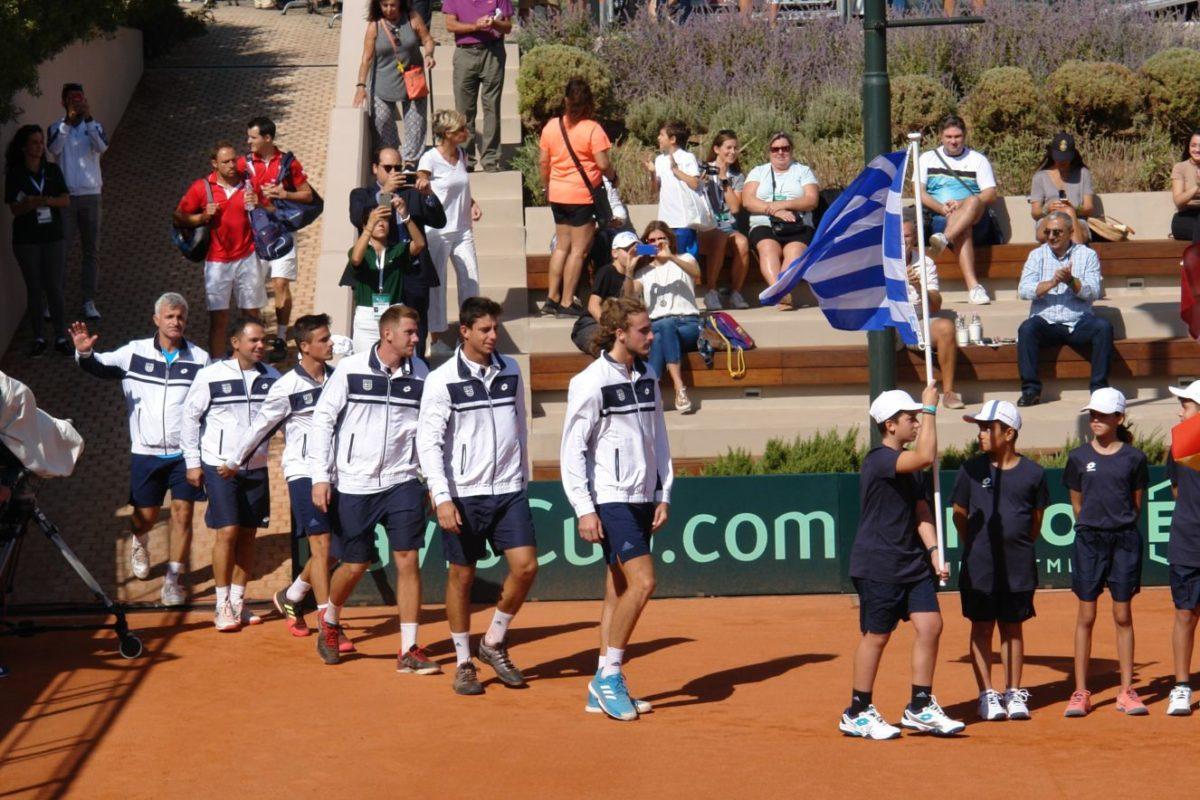 Φωτορεπορτάζ απο την τελετή έναρξης του Davis Cup