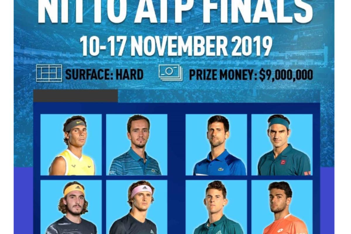 Αποτελέσματα και πρόγραμμα του 2019 Nitto ATP Finals