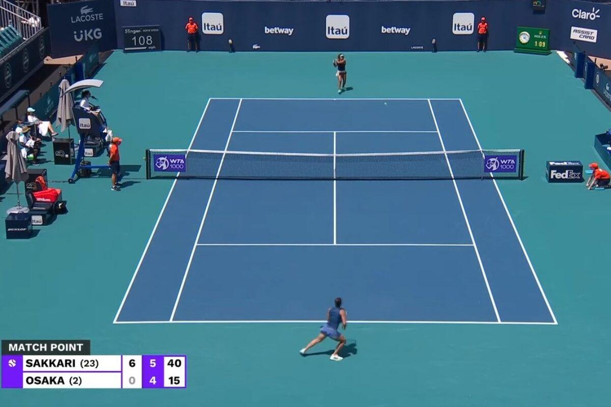 Η Σάκκαρη απέκλεισε την Osaka και πέρασε στα ημιτελικά του Miami Open